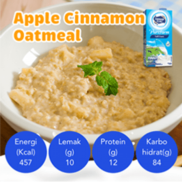 Resep Apple Cinnamon Oatmeal